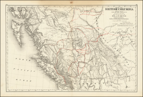 60-Western Canada and British Columbia Map By Joseph William Trutch