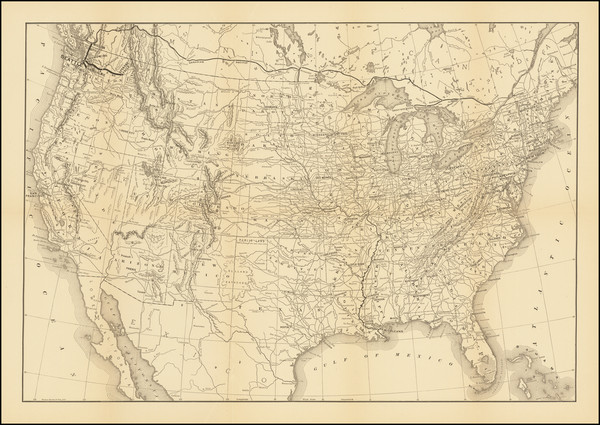 40-United States and Washington Map By Flemming, Brewster & Alley