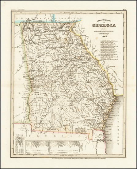 66-Georgia Map By Joseph Meyer