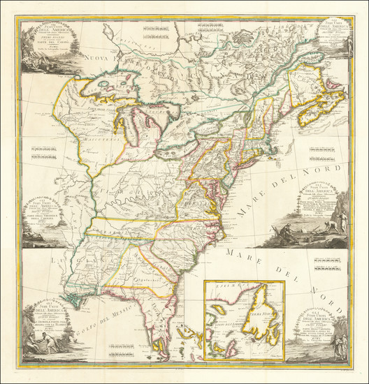 30-United States Map By Giovanni Maria Cassini