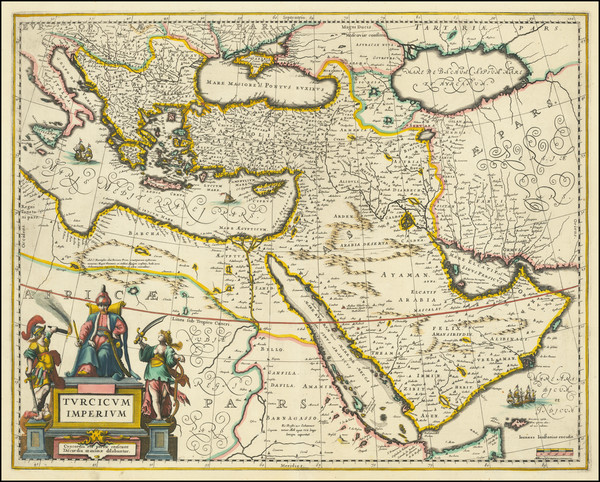 31-Turkey, Middle East and Turkey & Asia Minor Map By Jan Jansson