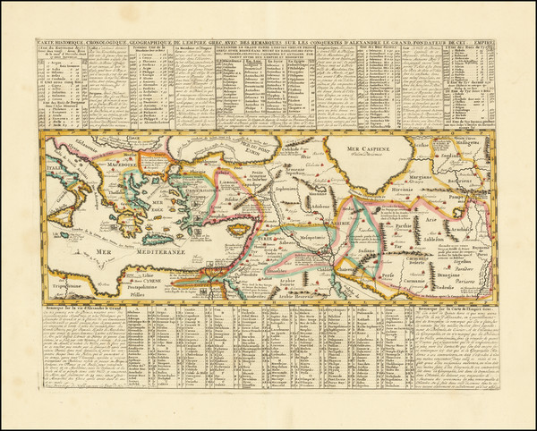 10-Mediterranean, Central Asia & Caucasus, Turkey & Asia Minor and Greece Map By Henri Cha