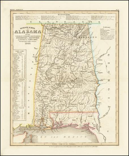 13-Alabama Map By Joseph Meyer  &  Carl Radefeld