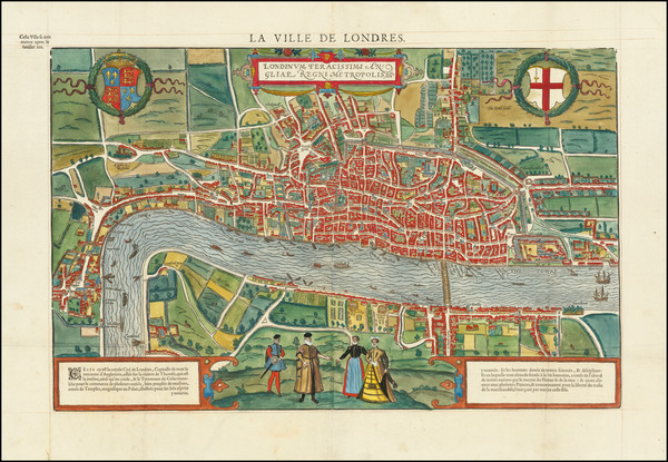 46-England and London Map By Francois De Belleforest