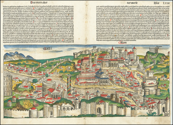 65-Rome Map By Hartmann Schedel