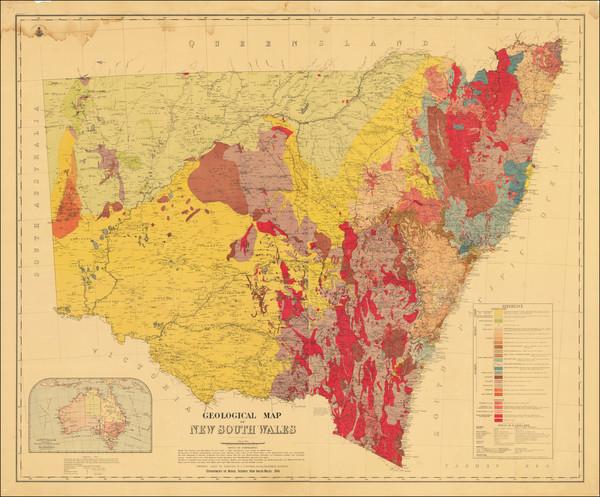 76-Australia Map By E.F. Pittman