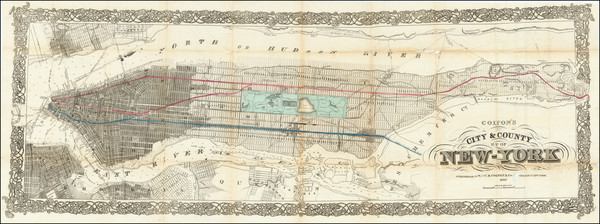 37-New York City Map By G.W.  & C.B. Colton