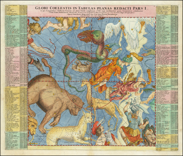 98-Celestial Maps Map By Johann Gabriele Doppelmayr