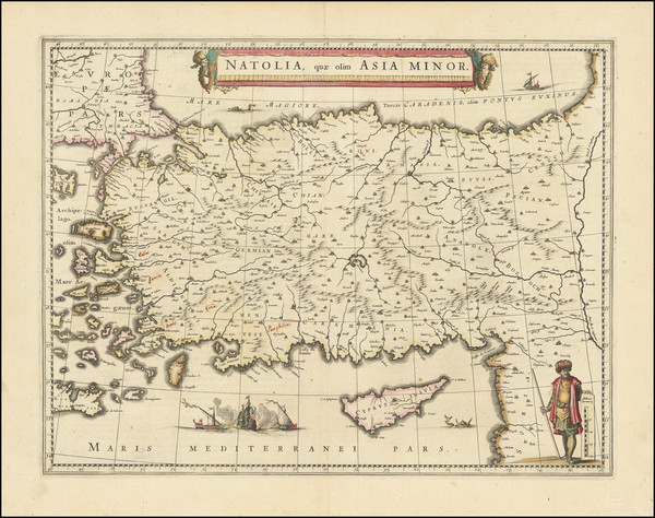 49-Turkey and Turkey & Asia Minor Map By Willem Janszoon Blaeu