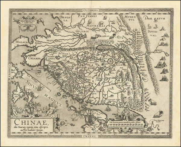 49-Asia, China, Japan, Southeast Asia and Philippines Map By Abraham Ortelius