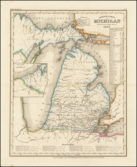 8-Michigan Map By Joseph Meyer