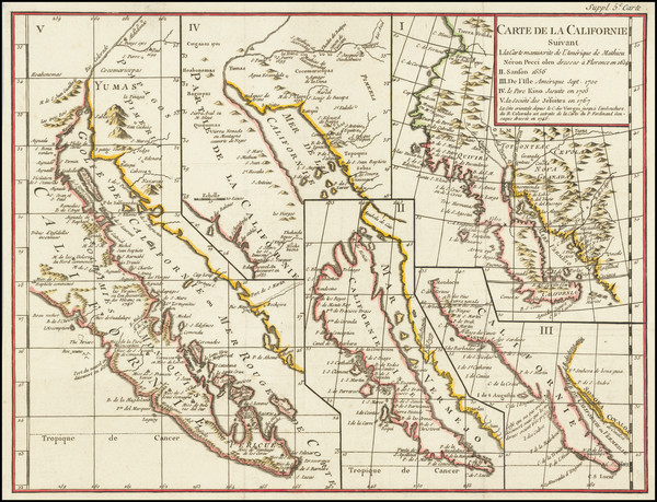 50-Baja California, California and California as an Island Map By Denis Diderot / Didier Robert de