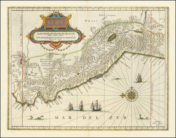 61-Peru & Ecuador Map By Willem Janszoon Blaeu