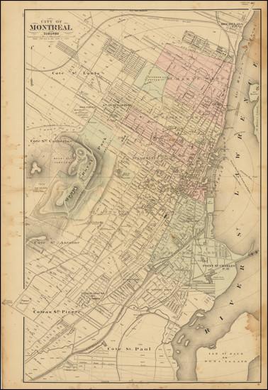 52-Eastern Canada Map By Henry Francis Walling / George Tackabury