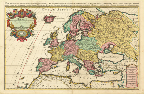56-Europe and Europe Map By Alexis-Hubert Jaillot / Pierre Mortier