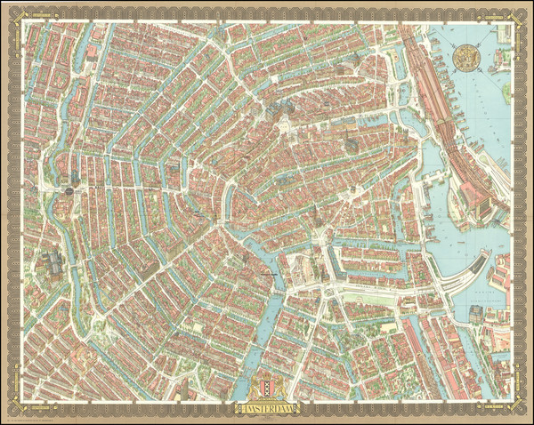 53-Pictorial Maps and Amsterdam Map By Hermann Bollmann