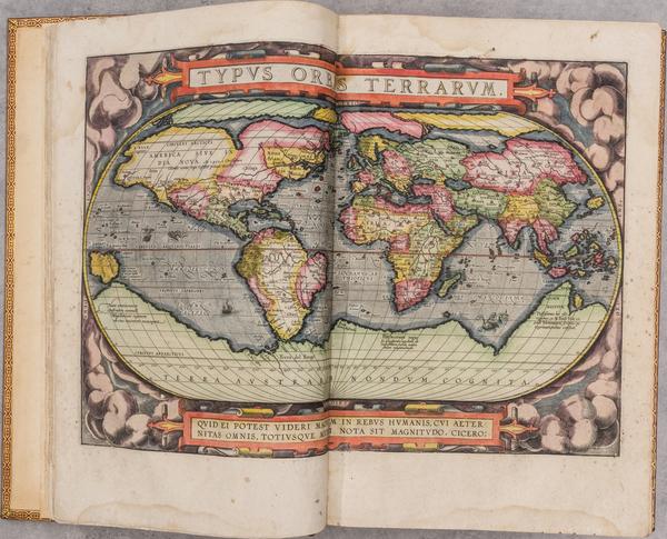 11-Atlases and RBMS FAIR 2021 Map By Abraham Ortelius  &  Cornelis Claesz