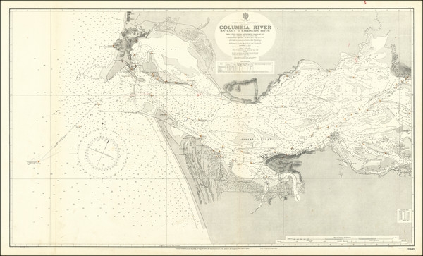 2-Oregon and Washington Map By British Admiralty