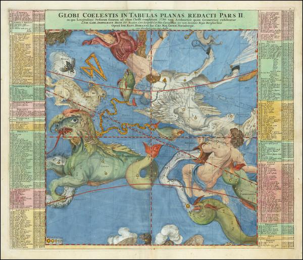 58-Celestial Maps Map By Johann Gabriele Doppelmayr