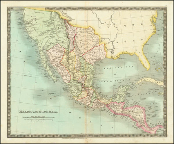 19-Texas, Southwest, Rocky Mountains, Mexico and California Map By John Dower