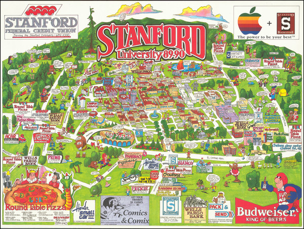 77-Pictorial Maps, San Francisco & Bay Area and Fair Map By Jim Wodark