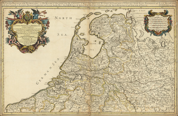 60-Netherlands and Belgium Map By William Berry