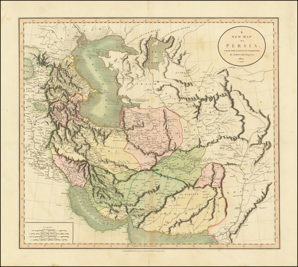 75-Central Asia & Caucasus, Middle East and Persia Map By John Cary