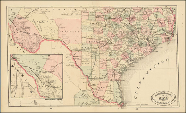 42-Texas Map By HS Stebbins