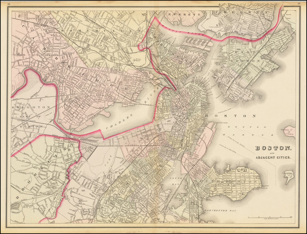 71-Boston Map By O.W. Gray