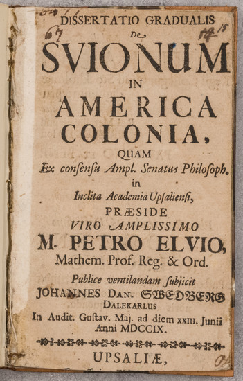 29-Mid-Atlantic, New Jersey, Pennsylvania, Delaware and Rare Books Map By Johannes Danielsson Swed