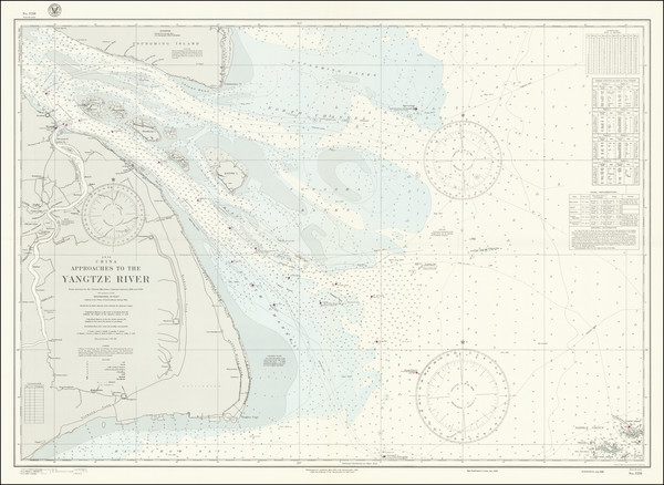 86-China Map By U.S. Navy Hydrographic Office