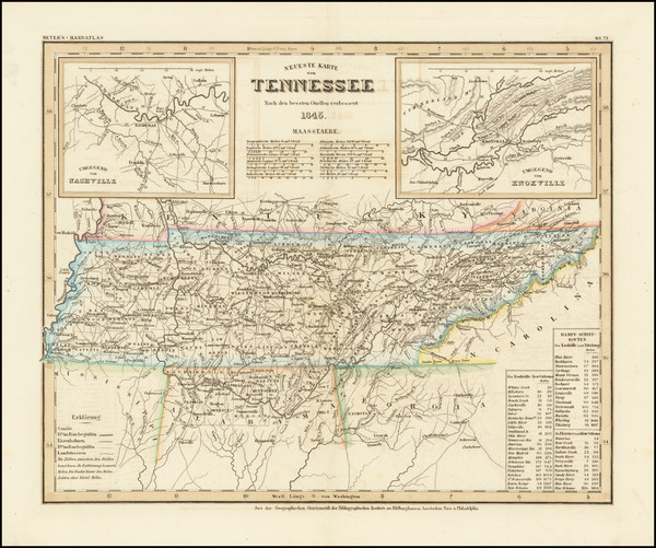 62-Tennessee Map By Joseph Meyer