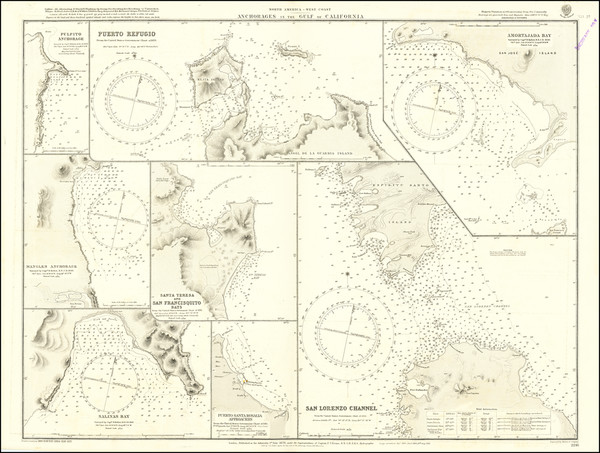 92-Mexico and Baja California Map By British Admiralty