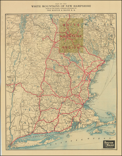 5-Connecticut, Massachusetts, New Hampshire and Vermont Map By Matthews-Northrup & Co.