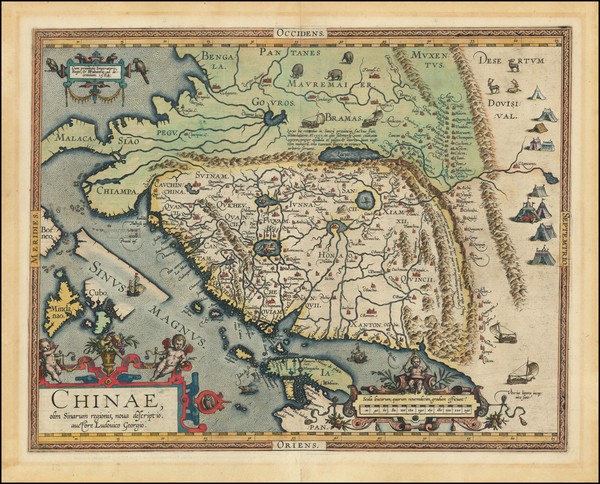 84-China, Japan, Southeast Asia and Philippines Map By Abraham Ortelius