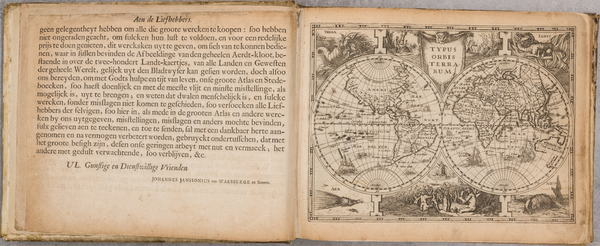 30-Atlases Map By  Gerard Mercator / Johannes von Wasenberg