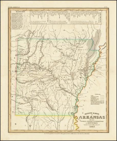 76-Arkansas Map By Joseph Meyer  &  Carl Radefeld