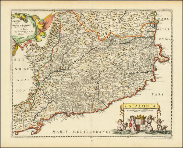 87-Catalonia Map By Pierre Mariette
