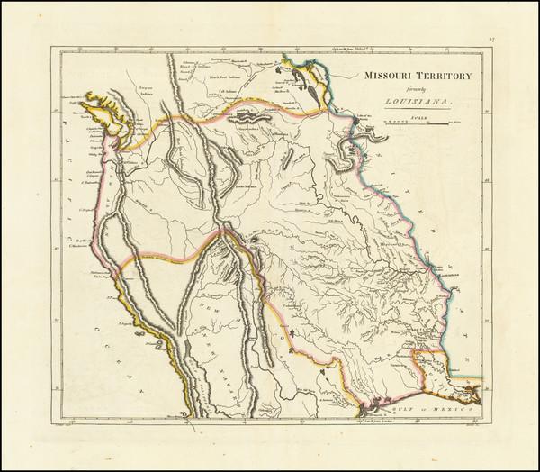 0-Plains, Missouri, Southwest, Rocky Mountains and Pacific Northwest Map By Mathew Carey
