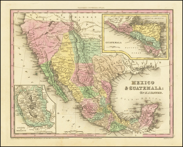 89-Texas, Southwest, Mexico and California Map By Henry Schenk Tanner