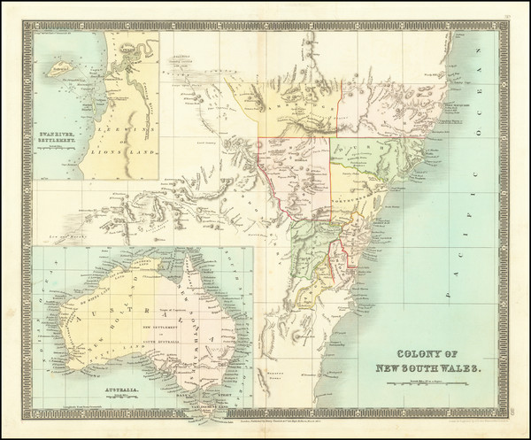 56-Australia Map By Henry Teesdale