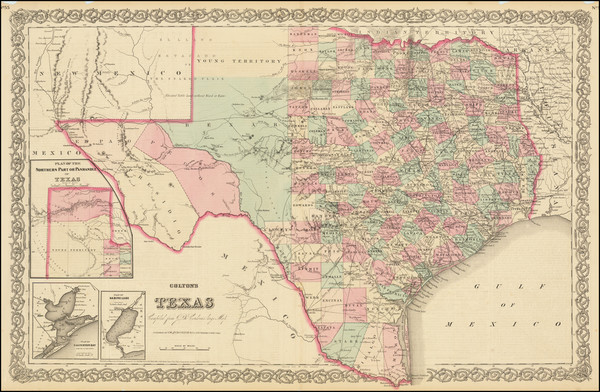 32-Texas Map By G.W.  & C.B. Colton