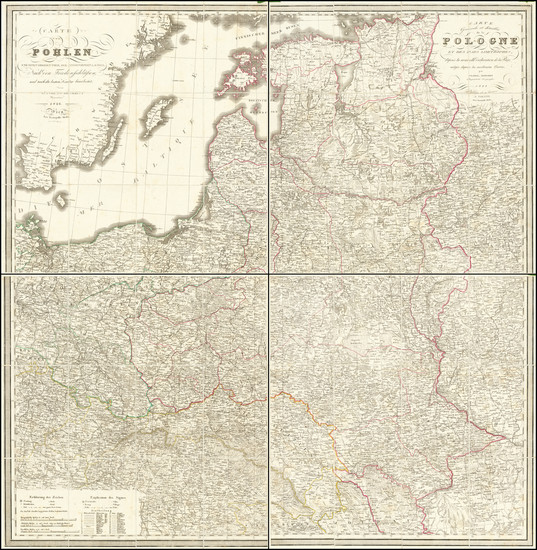 79-Poland and Baltic Countries Map By Stanislaus Rendziny