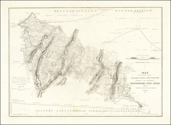 23-Mid-Atlantic, Pennsylvania and Maryland Map By United States War Dept.