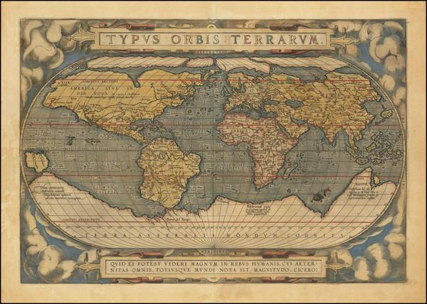 63-World Map By Abraham Ortelius