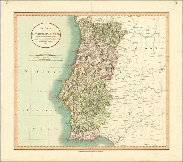 48-Portugal Map By John Cary