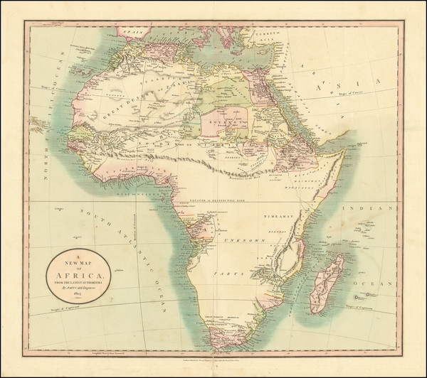 28-Africa and Africa Map By John Cary