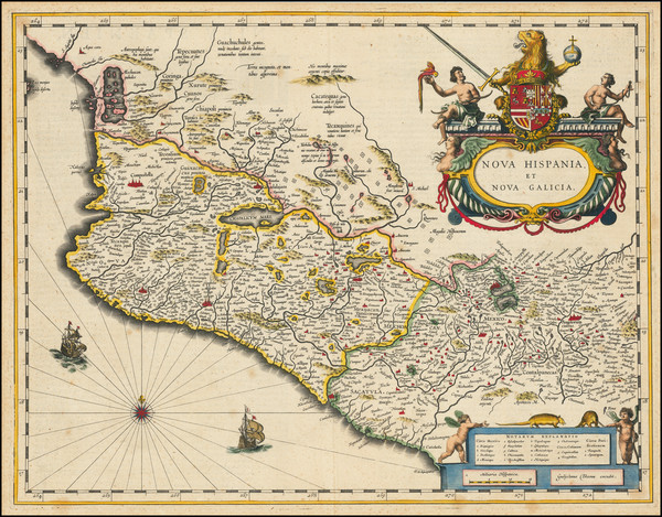 17-Mexico Map By Willem Janszoon Blaeu