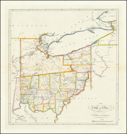 5-Ohio Map By Mathew Carey