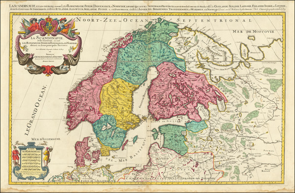 15-Scandinavia Map By Alexis-Hubert Jaillot